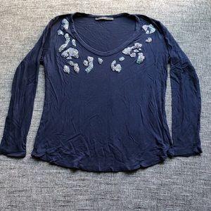 Zara druzy long sleeve shirt